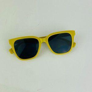 awesome square green frame black lens sunglasses
